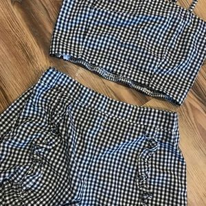 Gingham Black and White 2 piece set